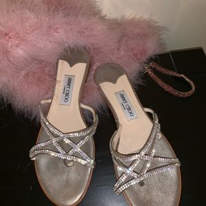 Jimmy Choo Slip On Sandals